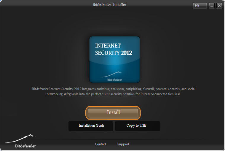 Installing Bit Defender Internet Security