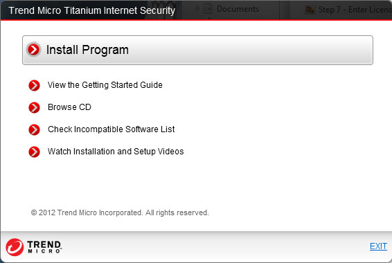 Installing Trend Micro Internet Security