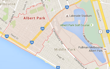 Albert Park Regional Outline according to Google Data 2015