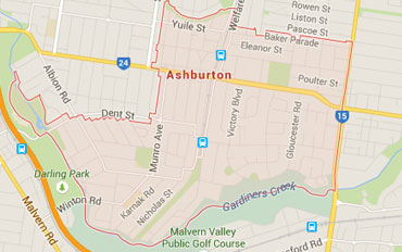 Ashburton Regional Outline according to Google Data 2015
