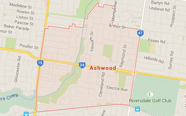Ashwood Regional Outline according to Google Data 2015