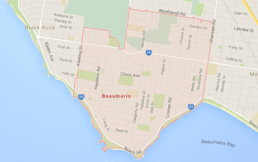 Beaumaris Regional Outline according to Google Data 2015