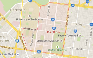 Carlton Regional Outline according to Google Data 2015
