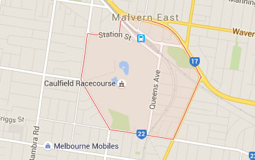 Caulfield East Regional Outline according to Google Data 2015