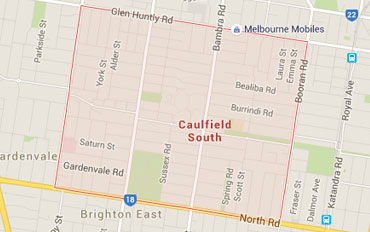 Caulfield South Regional Outline according to Google Data 2015