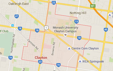 Clayton Regional Outline according to Google Data 2015