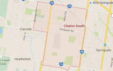 Clayton South Regional Outline according to Google Data 2015