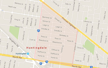 Huntingdale Regional Outline according to Google Data 2015