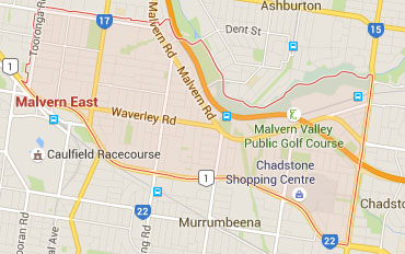 Malvern East Regional Outline according to Google Data 2015