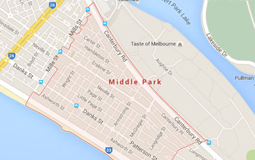 Middle Park Regional Outline according to Google Data 2015