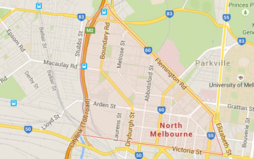 North Melbourne Regional Outline according to Google Data 2015