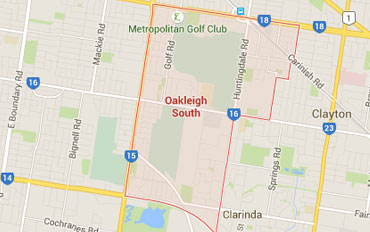 Oakleigh South Regional Outline according to Google Data 2015