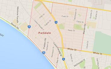 Parkdale Regional Outline according to Google Data 2015