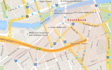 Southbank Regional Outline according to Google Data 2015