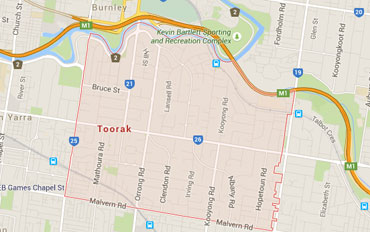 Toorak Regional Outline according to Google Data 2015
